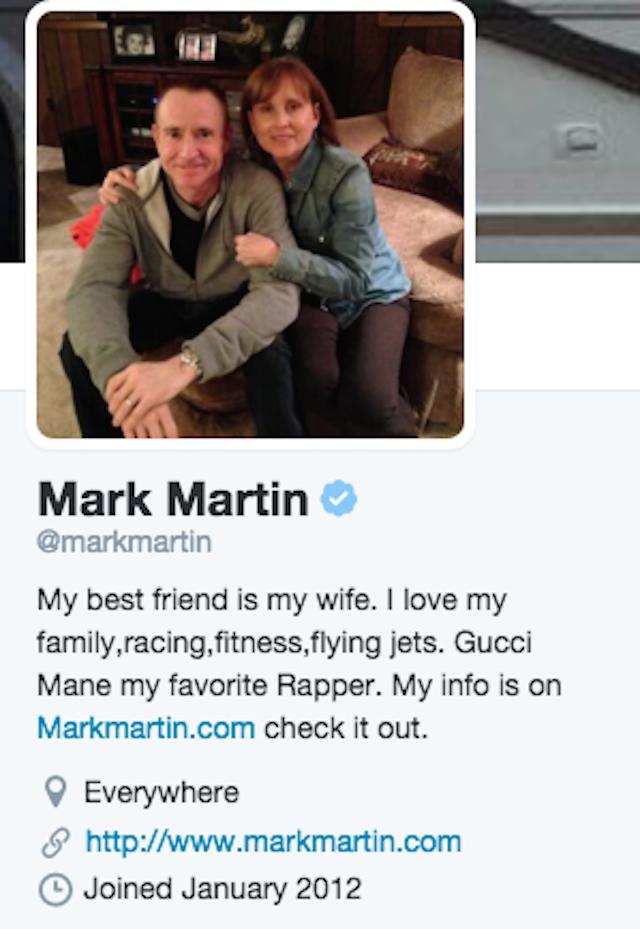 Mark Martin Twitter Bio