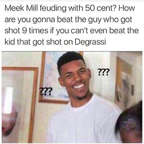 Meek Mill Drake 50 Meme all eyez on memes meek mill & stacey dash take epic l's hiphopdx