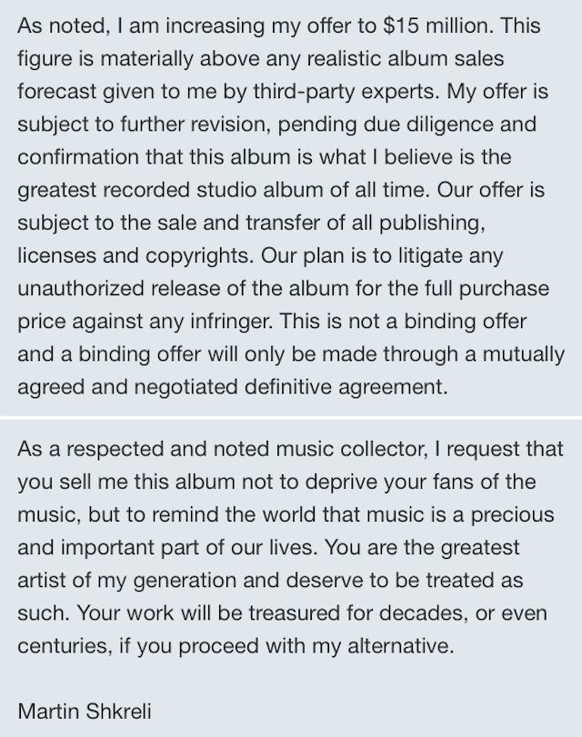 2016 021216 Martin Shkreli Letter To Kanye2