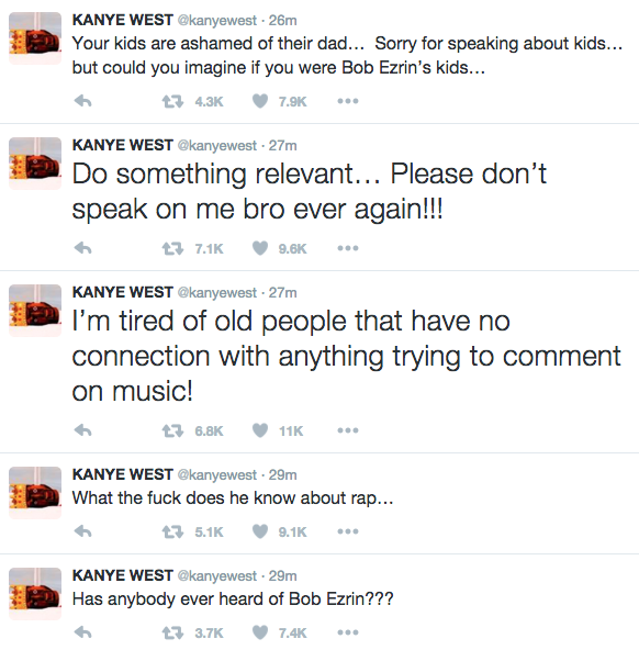 kanye west responds to bob ezrin 1
