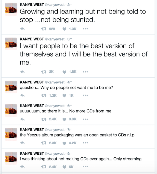 """Kanye West: """"No More CDs From Me"""""""