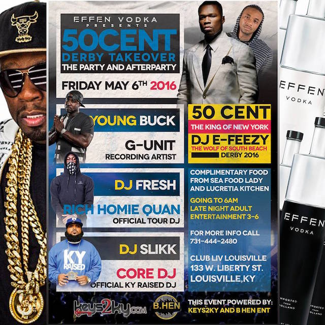 50 Cent Derby Takeover Flyer