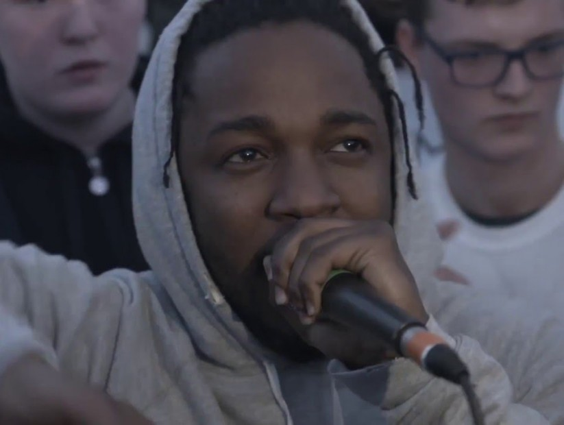Kendrick Lamar Starts Cypher While Suprising Young Musicians In A Hip Hop Workshop