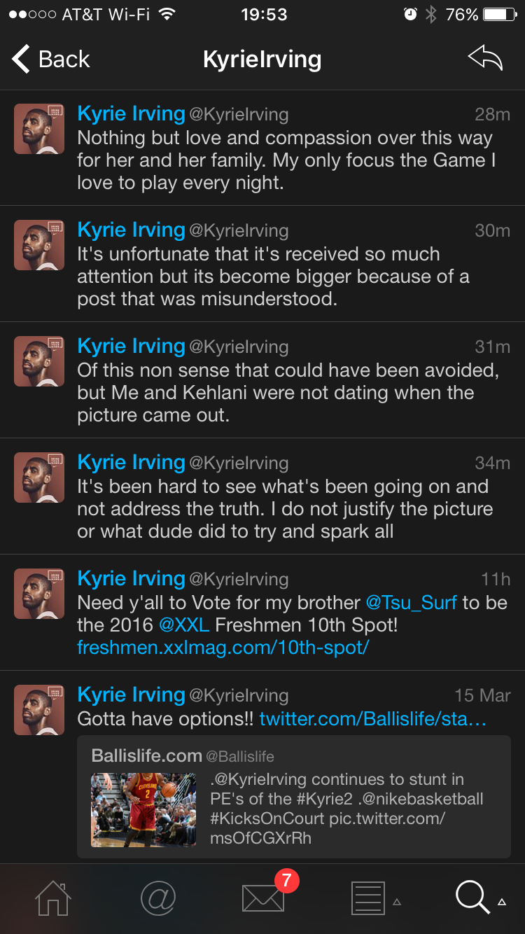 Kyrie Irving Breaks Silence On Kehlani Suicide Attempt