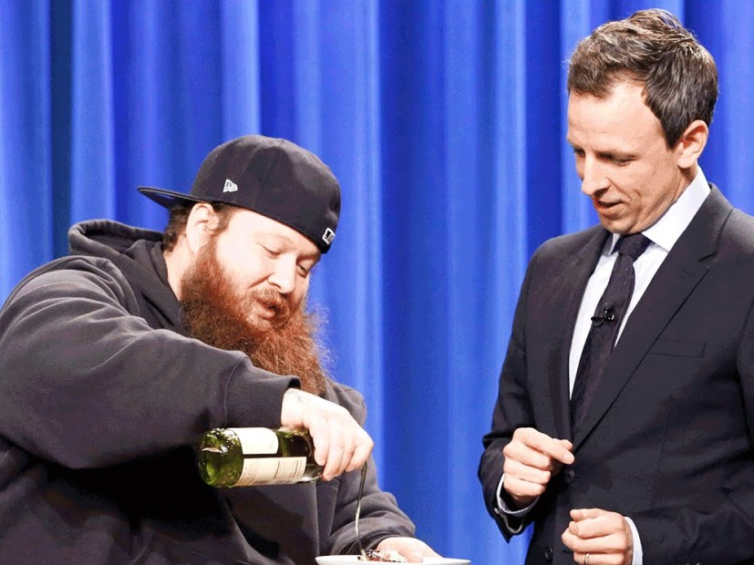 Action Bronson Cooks Up Some Grilled Octopus For Seth Meyers