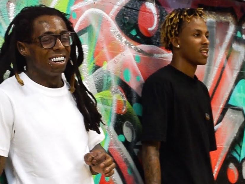Lil Wayne & Rich The Kid Turn Up The Skateboard Park