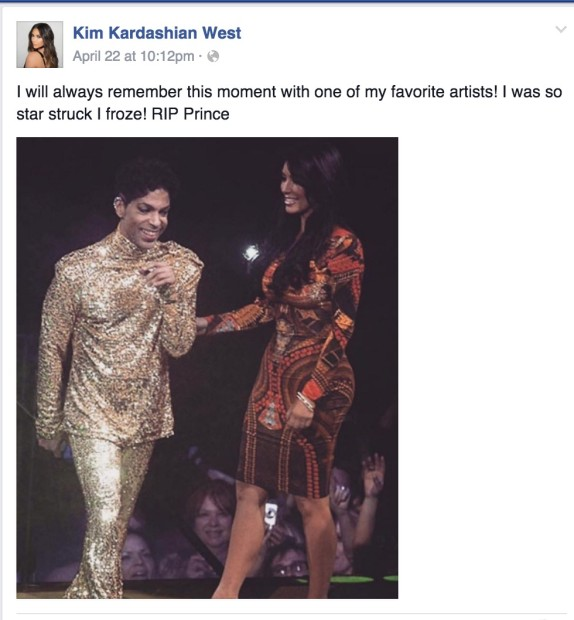 That One Time Prince Kicked Kim Kardashian Off The Stage
