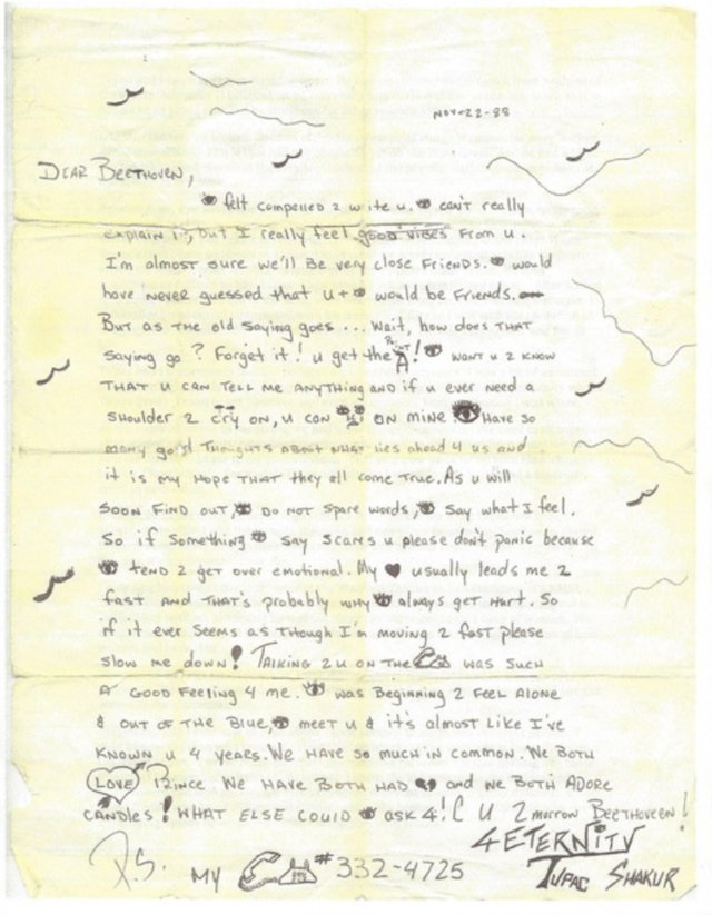 tupac love letter Bruceianwilliams