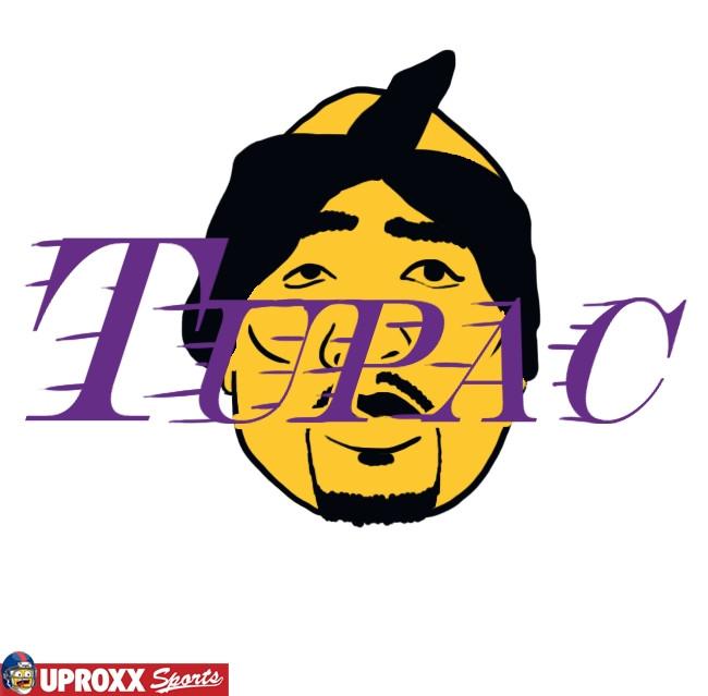tupac los angeles lakers logo