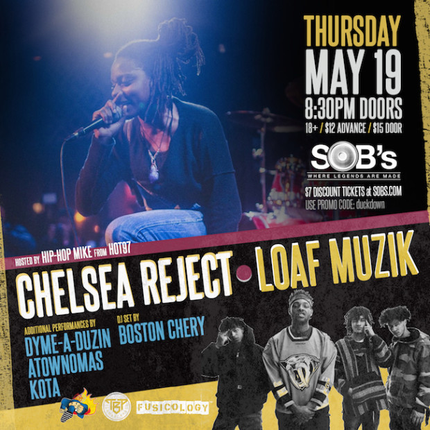 Chelsea Reject & Loaf Muzik Ticket Giveaway!