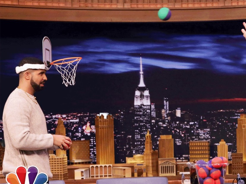 Drake Plays Faceketball With Jimmy Fallon