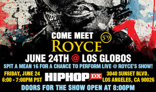 Spit A #Mean16 With Royce Da 5'9 In L.A.!