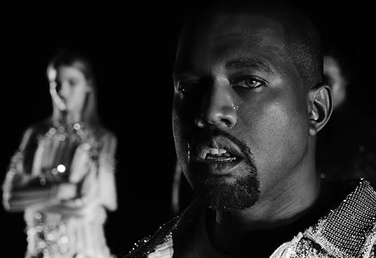 "Kanye & Kim Let The Tears Flow In ""Wolves"" Video"