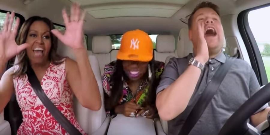 Carpool Karaoke: Michelle Obama sings 'Single Ladies' and 'Get Ur Freak On'
