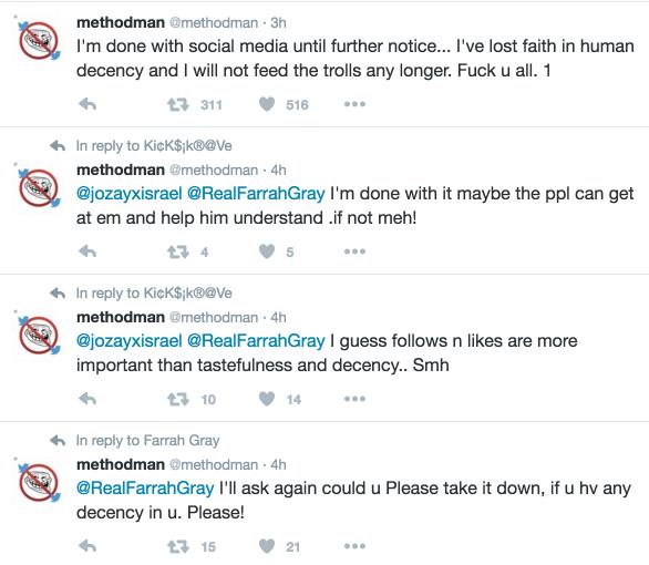 method man quits social media