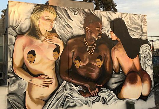 kanye west famous mural pops up in melbourne hiphopdx hiphopdx kanye west news newslocker. Black Bedroom Furniture Sets. Home Design Ideas