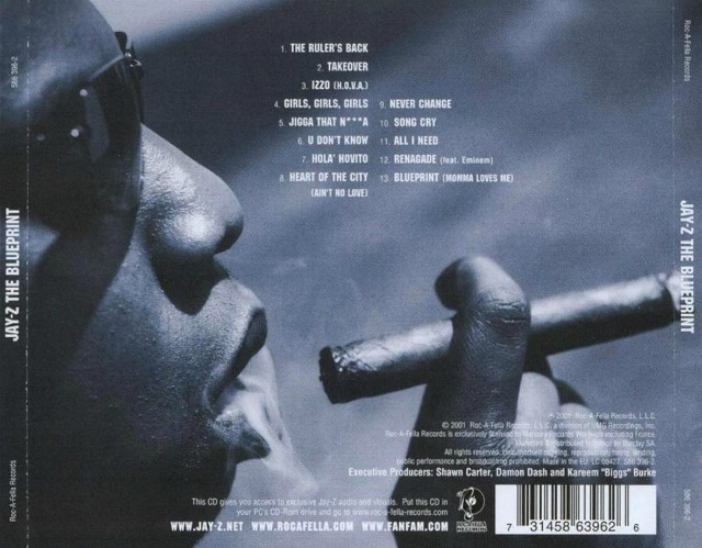 jay z the blueprint back cover
