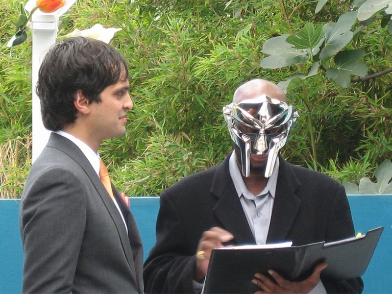 photos of mf doom officiating a wedding are from 2009