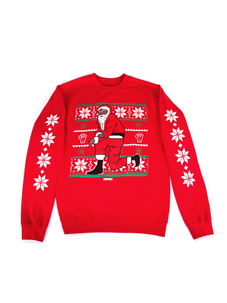 Nas & HSTRY Launch Kneeling Santa Ugly Christmas Sweaters | HipHopDX