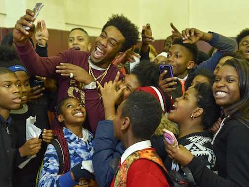 Desiigner Throws Surprise Christmas Party For Brooklyn Boys & Girls Club