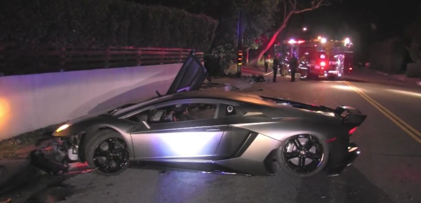 Chris Brown's Lamborghini Found Totaled In Beverly Hills ...