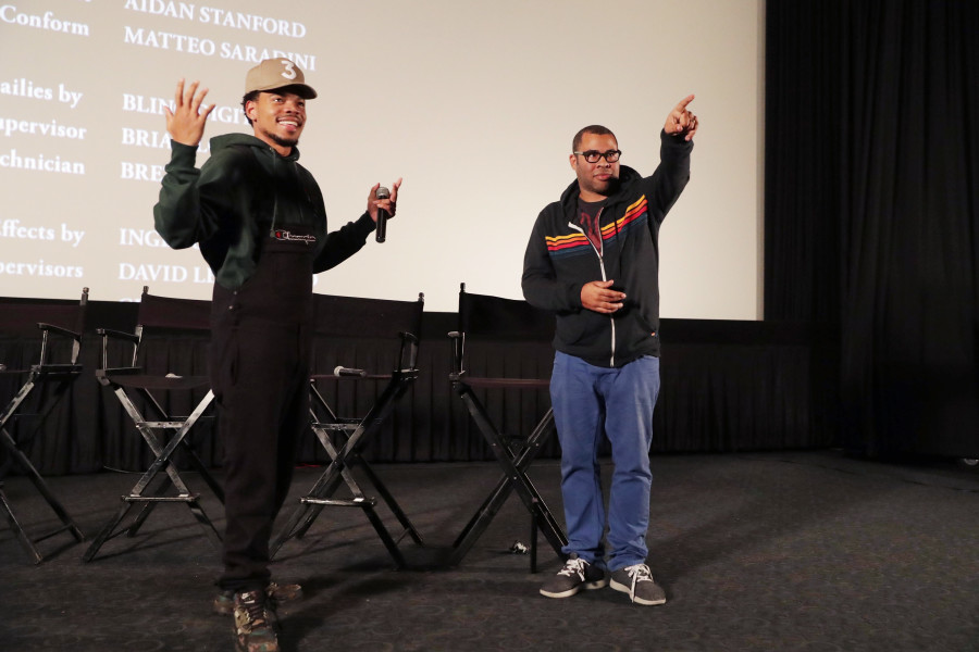 "Chance The Rapper Hosts ""Get Out"" Screening With Jordan Peele, Lil Yachty & More"