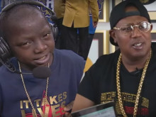 Master P Walks Ailing 14-Year-Old Jarrius Robertson To The Court During NBA Celebrity Game