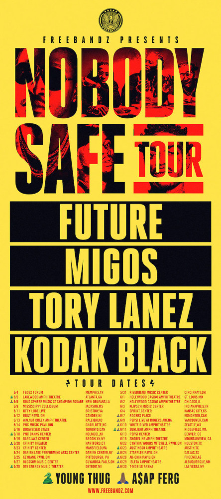 Nobody Safe Tour Flyer