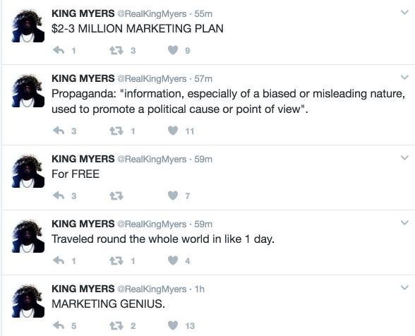 king myers marketing plan