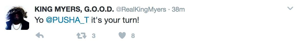king myers pusha t tweet