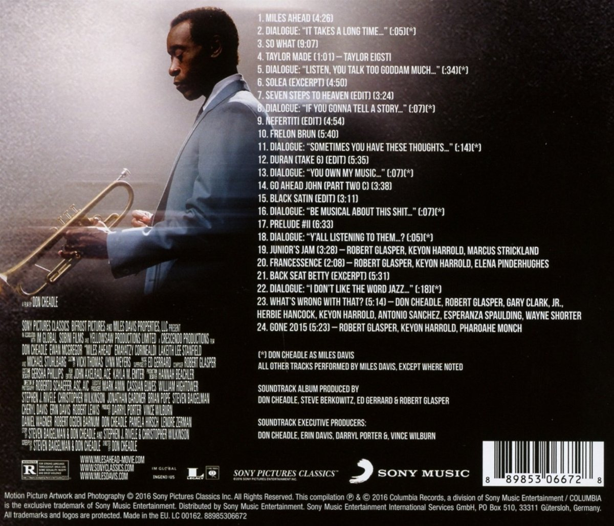 miles ahead soundtrack back cover