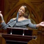 Rihanna Accepts Award At Harvard