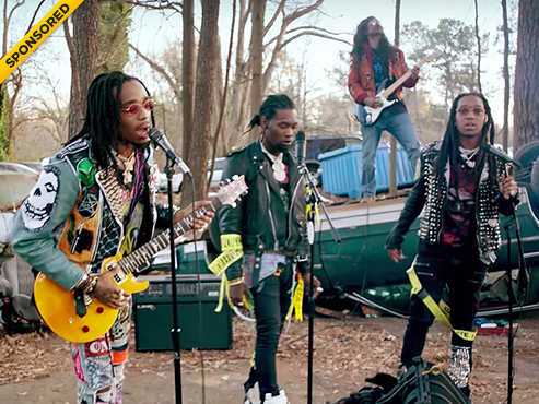 """Migos' Quavo, Takeoff & Offset Rock Out With Their Kandypens In """"What The Price"""""""