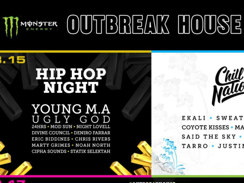 Monster Energy Outbreak House Bringing Young M.A, Ugly God, 24Hrs & More To SXSW 2017