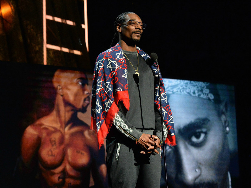 Tupac Officially Inducted Into Rock & Roll Hall Of Fame By Snoop Dogg