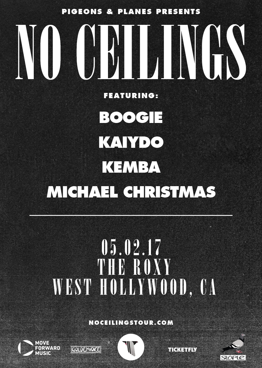 Ticket Giveaway: No Ceilings With Boogie, Kaiydo, Kemba & Michael Christmas
