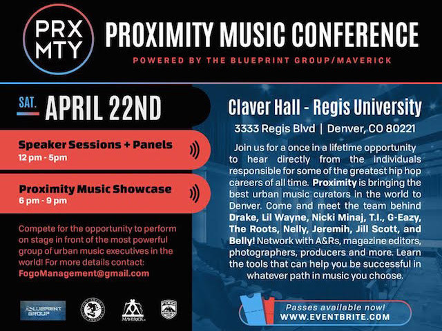 Proximity Music Conference Going Down In Denver