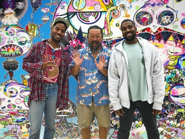 Instagram Flexin': Kanye West & Kid Cudi Reunite At Takashi Murakami's Studio
