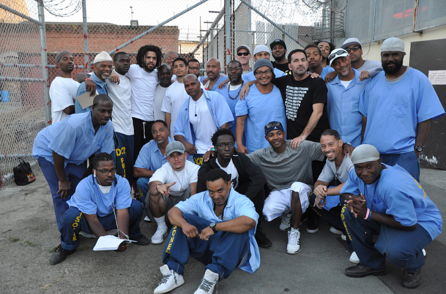 J. Cole Pays San Quentin Prison Inmates A Humanitarian Visit