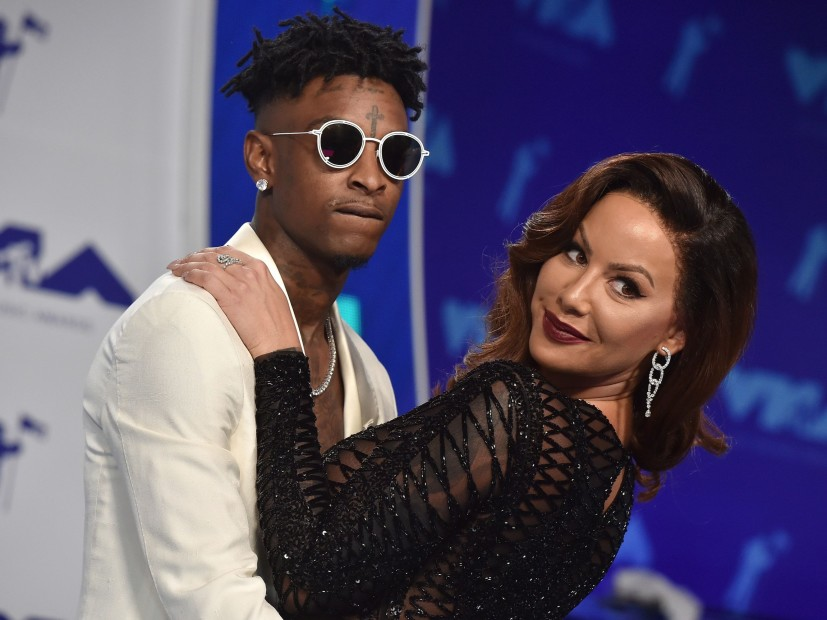 Amber Rose Surprises 21 Savage With $50K Promise Ring