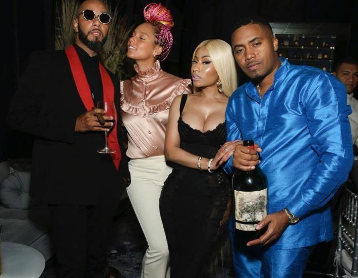 Nas Cozied up With Nicki Minaj During the 44th Birthday party