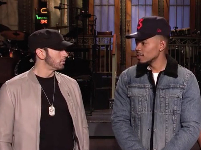 """Tweets Is Watching: Chance The Host & Eminem The Rapper Get Ready For """"SNL"""""""