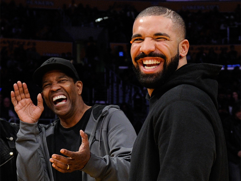 Denzel Washington Has 1 Questions About Drake's Tattoo Of Him