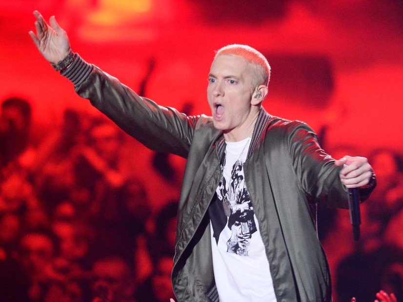 "Eminem Reveals ""Revival"" Cover Art With Detroit Projection Show"