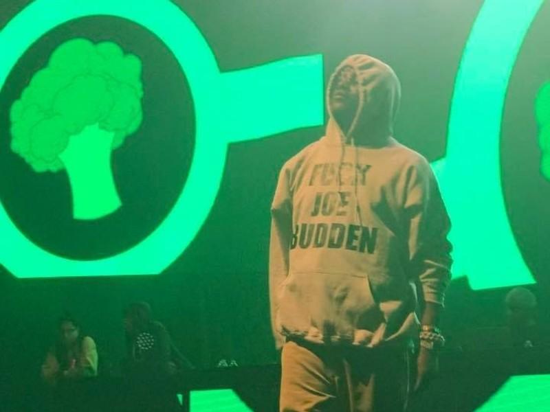 "Lil Yachty Wears ""Fuck Joe Budden"" Hoodie At Concert"