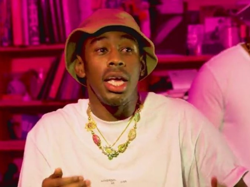 Tyler The Creator Stage Night Set In NPR's Tiny Desk Concert