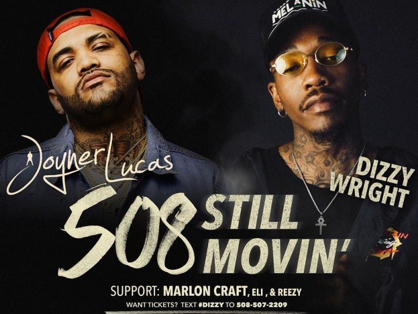 "Joyner Lucas & Dizzy Wright Announces ""The 508/Still Movin' Tour"""