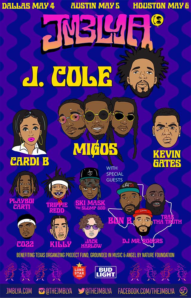 Cardi B, Migos & J.Cole To Headline 2018 JMBLYA Festival