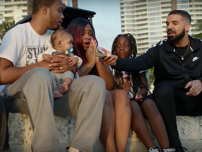 "Drake Drops A Milli On Good Deeds For ""God's Plan"" Video"