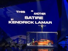Watch Kendrick Lamar Perform While Rich The Kid Destroys A Car At BRIT Awards 2018